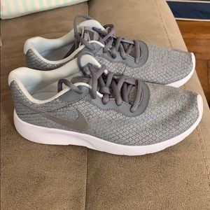 Nike youth gray sneakers size 5.5